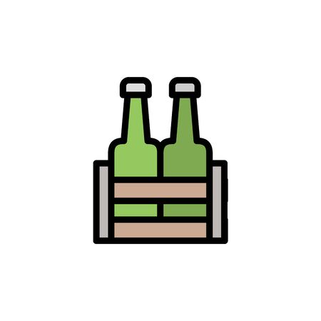 Beer. Beer box colored icon. Simple color element illustration. Beer. Beer box concept outline symbol design from Bar set. Can be used for web and mobile on white background Stock Illustratie
