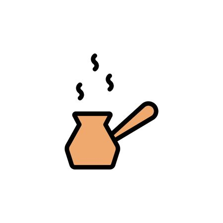 Coffee boiler colored icon. Simple color element illustration. Coffee boiler concept outline symbol design from Bar set. Can be used for web and mobile on white background