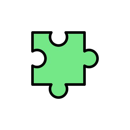 Puzzle colored icon. Simple color element illustration. Puzzle concept outline symbol design from Business strategy set. Can be used for web and mobile on white background Stock Illustratie