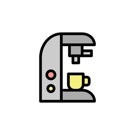 Coffee machine colored icon. Simple color element illustration. Coffee machine concept outline symbol design from Bar set. Can be used for web and mobile on white background Stock Illustratie
