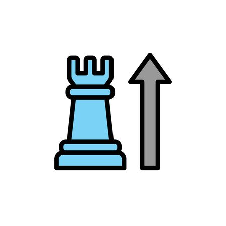 Chess, colored icon. Simple color element illustration. Chess, concept outline symbol design from Business strategy set. Can be used for web and mobile on white background
