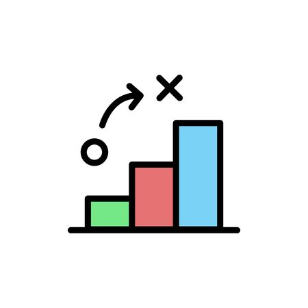 Bar graph colored icon. Simple color element illustration. Bar graph concept outline symbol design from Business strategy set. Can be used for web and mobile on white background