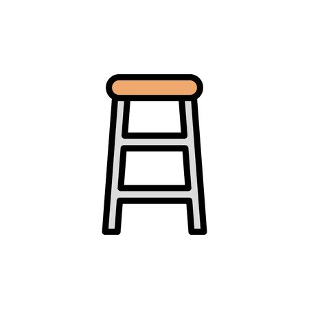Bar chair colored icon. Simple color element illustration. Bar chair concept outline symbol design from Bar set. Can be used for web and mobile on white background
