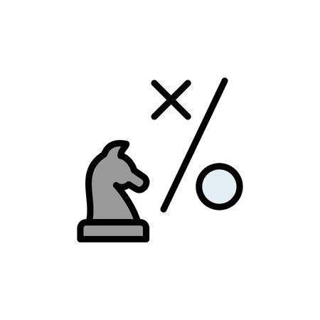 Chess, horse colored icon. Simple color element illustration. Chess, horse concept outline symbol design from Business strategy set. Can be used for web and mobile on white background