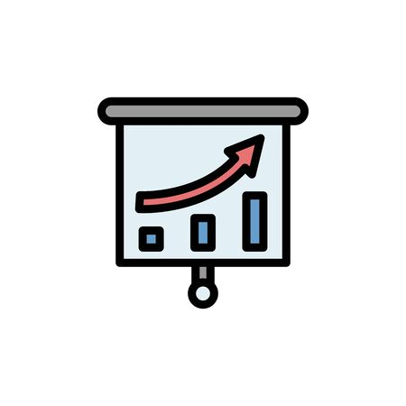 Graph colored icon. Simple color element illustration. Graph concept outline symbol design from Business strategy set. Can be used for web and mobile on white background