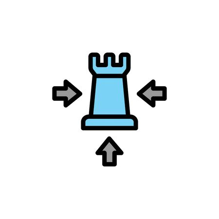 Chess colored icon. Simple color element illustration. Chess concept outline symbol design from Business strategy set. Can be used for web and mobile on white background