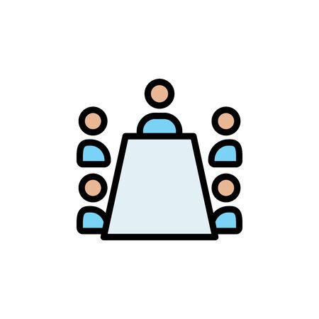 Meeting colored icon. Simple color element illustration. Meeting concept outline symbol design from Business strategy set. Can be used for web and mobile on white background