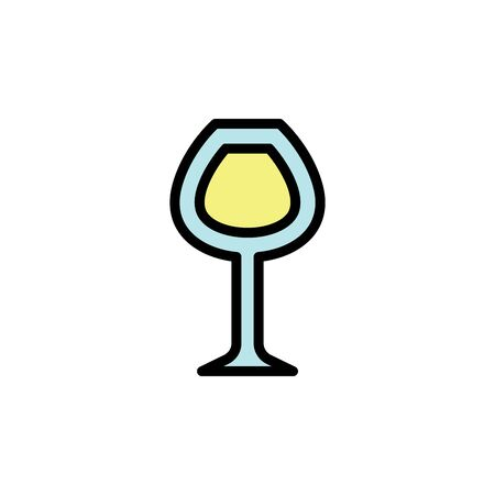 Red wine glass colored icon. Simple color element illustration. Red wine glass concept outline symbol design from Bar set. Can be used for web and mobile on white background