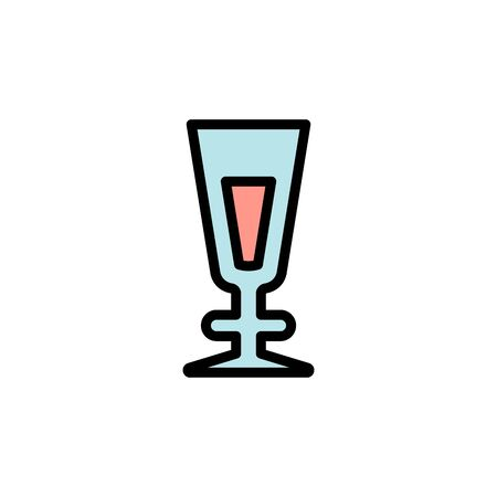 Milkshake glass colored icon. Simple color element illustration. Milkshake glass concept outline symbol design from Bar set. Can be used for web and mobile on white background