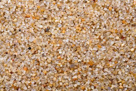 Texture. Calibrated Quartz Sand. Macro. Clean granules. Natural material.