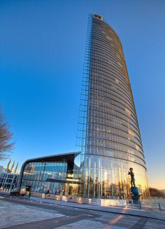 Post Tower in Bonn, Suedwest-Ansicht Stock Photo - 12201462