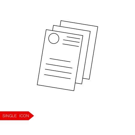 renting: Documents outline icon. Buy home vector icon. Renting house vector icon. Illustration
