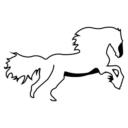 Horse logo. Silhouette vector symbol of horse for design companys logo, tattoo, visit card, etc. Monochrome sign of animal.