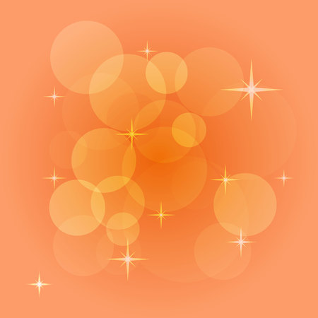 creating: Abstract vector background with bokeh, light flares, stars and other elements. Color illustration for creating printed materials and web design. Blurry bubble light wallpaper. Illustration