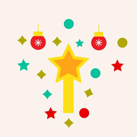Christmas decoration vector icon. Illustration