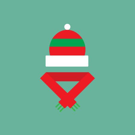 Winter cloth icon. Flat pictogram of christmas theme.