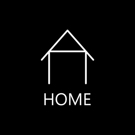 abode: Web home line icon. High quality outline pictigram for design website or mobile app. Vector thin line illustration of home, house. Illustration