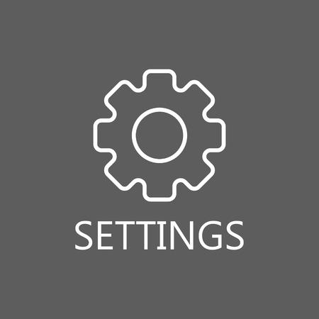more information: More information line icon. Vector concept illustration for design. High quality outline pictigram for design website or mobile app. Vector thin line illustration of gear.