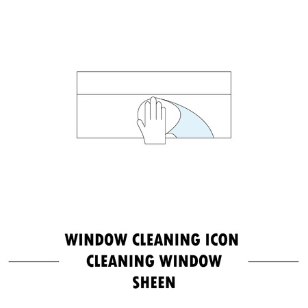 Window cleaning icon. High quality outline pictogram of window cleaning. Vector color symbol for design website, visit card, mobile app, etc. Illustration