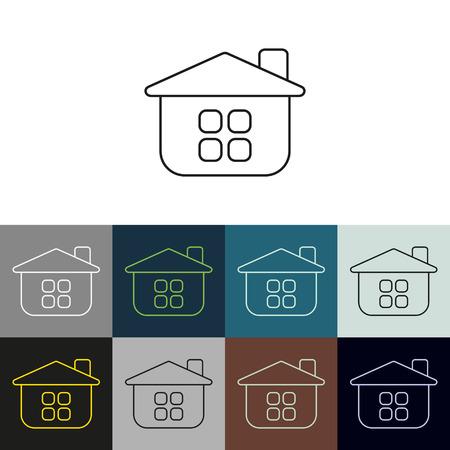 upkeep: Set of linear icons on a theme Upkeep apartment . Stock Photo