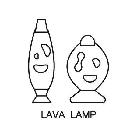 lava lamps lava lamp flat icon high quality outline pictogram of element for bedrooms