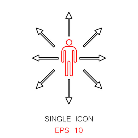 Choice vector icon.  Choice way vector icon. Button for websites, elements for booklets, leaflets, brochures, logos, etc