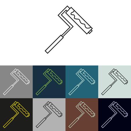 upkeep: Set of linear icons on a theme Upkeep apartment . Illustration