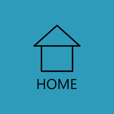 abode: Web home line icon. High quality outline pictigram for design website or mobile app. Vector thin line illustration of home, house. Stock Photo