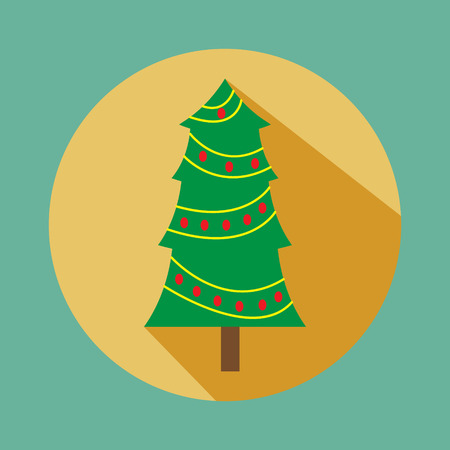 Christmas vector icon. Christmas vector flat icon. Button for websites, elements for booklets, leaflets, brochures Stock Photo