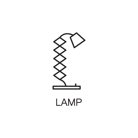 electric torch: Lamp line icon. High quality pictogram of lamp for homes interior. Outline vector symbol for design website or mobile app.