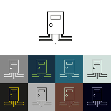 upkeep: Set of linear icons on a theme Upkeep apartment . Stock Photo