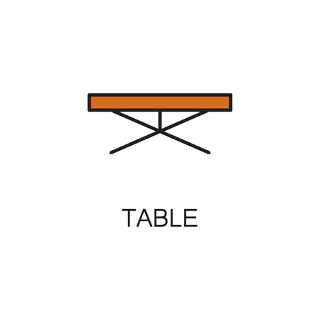 Table line icon. High quality pictogram of table for homes interior. Outline vector symbol for design website or mobile app.