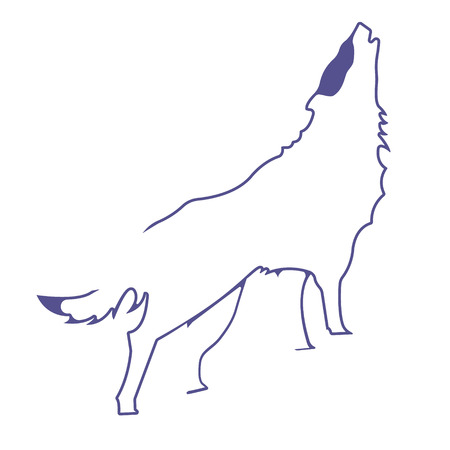 archaic: Wolf. Silhouette vector symbol of wolf