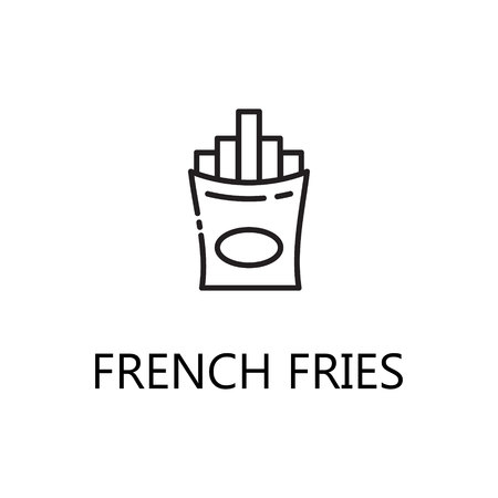 French Fries Line Icon Single High Quality Symbol Of Fast Food