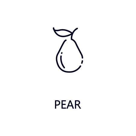 Pear flat icon. Single high quality outline symbol of fruit for web design or mobile app. Thin line signs of pear for design , visit card, etc. Outline pictogram of pear. Illustration