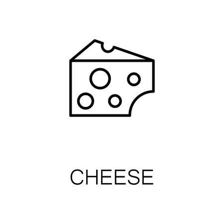 Cheese Flat Icon Single High Quality Outline Symbol Of Milk