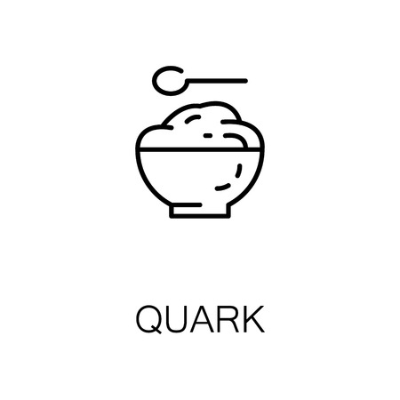 Curd flat icon. Single high quality outline symbol of milk food for web design or mobile app. Thin line signs of curd for design logo, visit card, etc. Outline pictogram of curd
