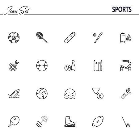 b46a41ac6 Colección de 20 símbolos de esquema de alta calidad de inventario de  deportes para diseño web