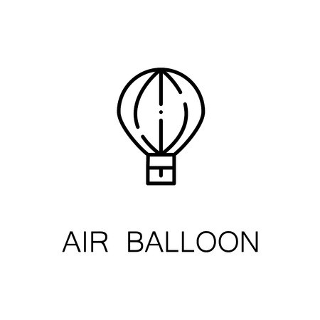 Air Balloon Flat Icon Single High Quality Outline Symbol Of