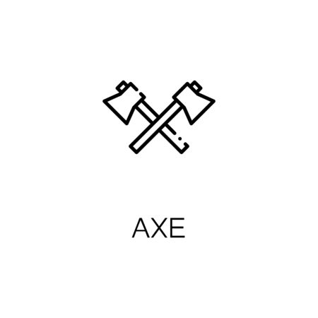 Axe Flat Icon Single High Quality Outline Symbol Of Camping