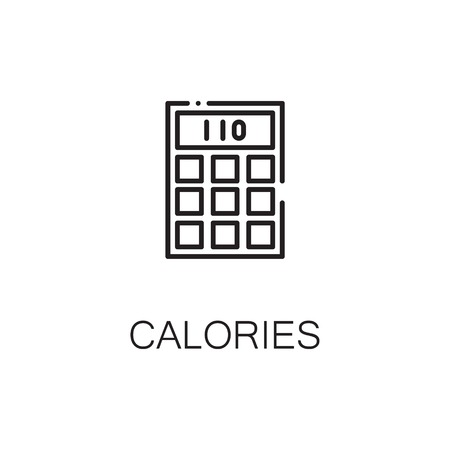 Calculator flat icon. Single high quality outline symbol of calculator for web design or mobile app.