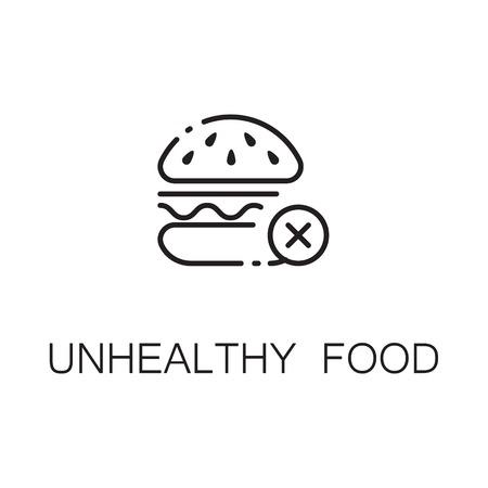 lunchroom: Burger flat icon. Single high quality outline symbol of sweet food for web design or mobile app. Thin line signs of sugar for design logo, visit card, etc. Outline pictogram of sugar