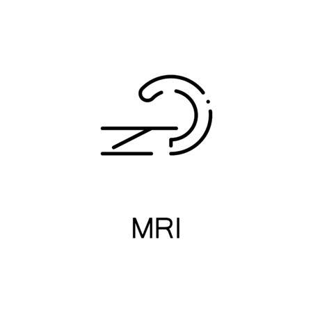ct scan: MRI flat icon. High quality outline symbol of medical euipment for web design or mobile app. Thin line signs of MRI for design logo, visit card, etc. Outline pictogram of MRI Illustration