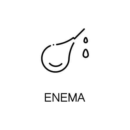 enema: Enema flat icon. High quality outline symbol of medical euipment for web design or mobile app. Thin line signs of enema for design logo, visit card, etc. Outline pictogram of enema Illustration