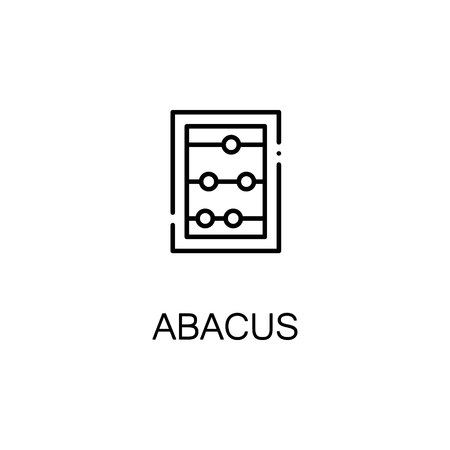 abacus: Abacus flat icon. Single high quality outline symbol of education for web design or mobile app. Thin line signs of Abacus for design logo, visit card, etc. Outline pictogram of Abacus