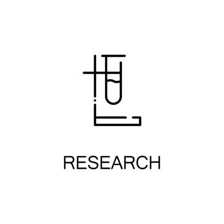 vials: Vial flat icon. Single high quality outline symbol of education for web design or mobile app. Thin line signs of vial for design logo, visit card, etc. Outline pictogram of vial Illustration