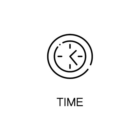 profile measurement: Time icon. Single high quality outline symbol for web design or mobile app. Thin line sign for design logo. Black outline pictogram on white background Illustration