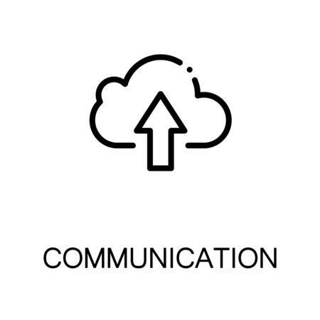 cloude: Cloude  icon. Single high quality outline symbol for web design or mobile app. Thin line sign for design logo. Black outline pictogram on white background