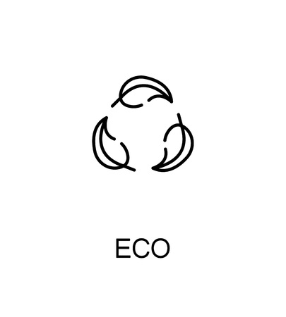 Eco cloud icon. Single high quality outline symbol for web design or mobile app. Thin line sign for design . Black outline pictogram on white background