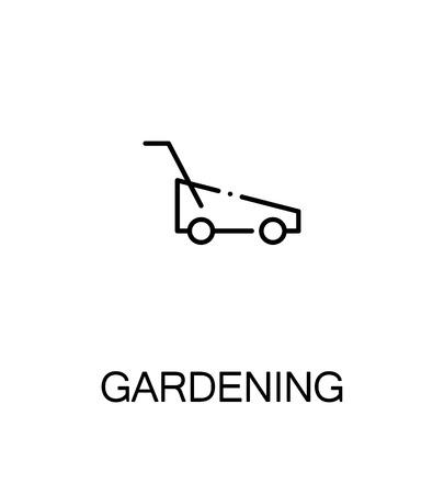 roller blade: Gardening cloud icon. Single high quality outline symbol for web design or mobile app. Thin line sign for design Black outline pictogram on white background Illustration